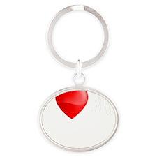 I Love My Shih Tzu Oval Keychain