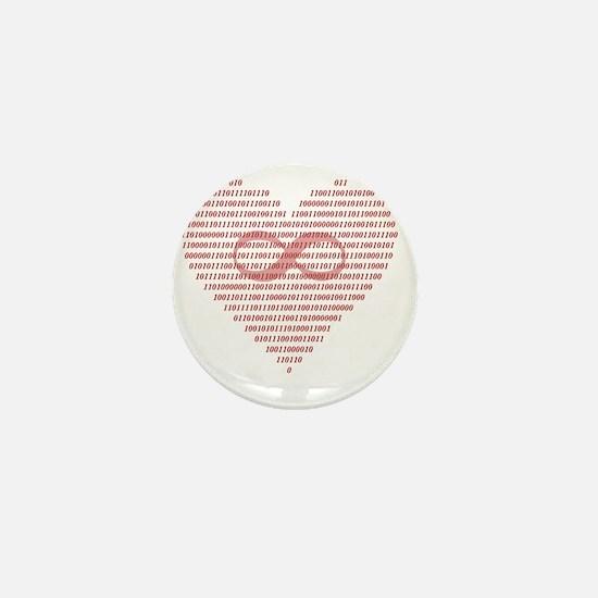 Love is Eternal (Binary) Mini Button