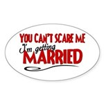 Getting Married Oval Sticker