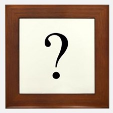 Unknown gender question mark Framed Tile