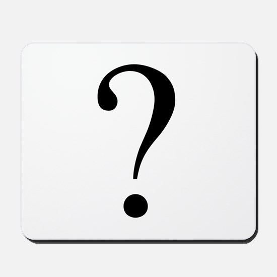 Unknown gender question mark Mousepad