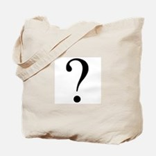 Unknown gender question mark Tote Bag