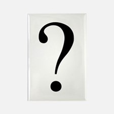 Unknown gender question mark Rectangle Magnet