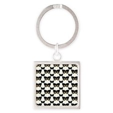 Butterfly Dynamic Square Keychain