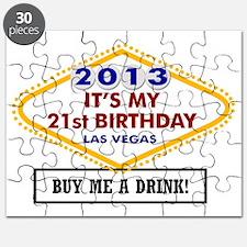 Its My 21st birthday Vegas Puzzle