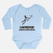 Chicks With Sticks Lacrosse Long Sleeve Infant Bod