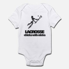 Chicks With Sticks Lacrosse Infant Bodysuit