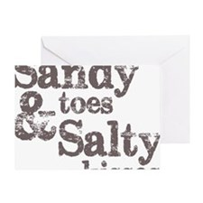 Sandy Toes Salty Kisses Greeting Card