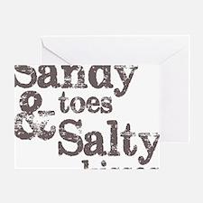 Sandy Toes Salty Kisses Greeting Card