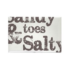 Sandy Toes Salty Kisses Rectangle Magnet