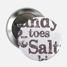 """Sandy Toes Salty Kisses 2.25"""" Button"""