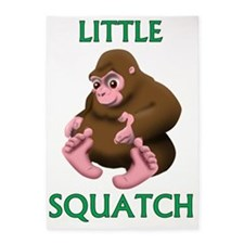 LITTLE SQUATCH 5'x7'Area Rug