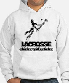 Chicks With Sticks Lacrosse Hoodie