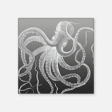 """sea monster brown gray Square Sticker 3"""" x 3"""""""