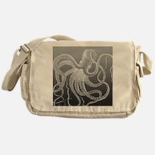 sea monster brown gray Messenger Bag