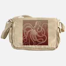 sea monster brown red Messenger Bag