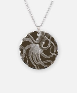sea monster brown Necklace