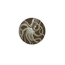 sea monster brown Mini Button