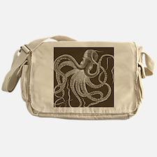 sea monster brown Messenger Bag