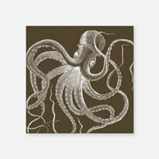 """sea monster brown Square Sticker 3"""" x 3"""""""