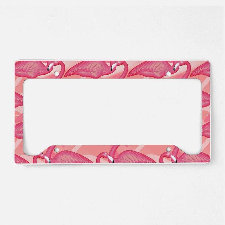 pinkflamingo_6200 License Plate Holder