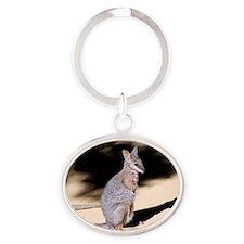 Tammar Wallaby 2 Oval Keychain