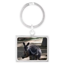 Yellow-Footed Rock Wallaby Landscape Keychain