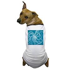 sea monster teal Dog T-Shirt
