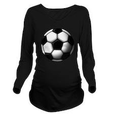 soccer ball 2 Long Sleeve Maternity T-Shirt