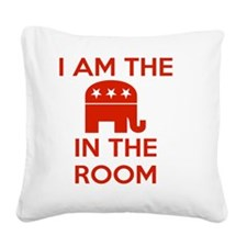 I Am the Elephant in the Room Square Canvas Pillow