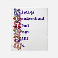 Autism Acrostic Poem Throw Blanket