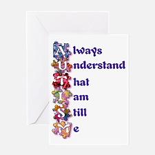 Autism Acrostic Poem Greeting Card