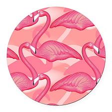 pinkflamingo_gelmp Round Car Magnet