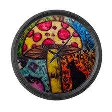 Mushroom Dream Large Wall Clock