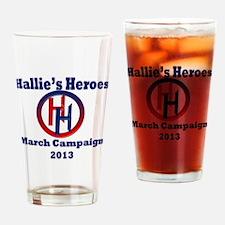Hallies Heroes Drinking Glass