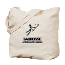 Chicks With Sticks Lacrosse Tote Bag