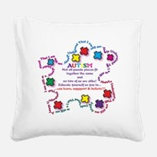 Puzzle Pieces No Two Alike Square Canvas Pillow