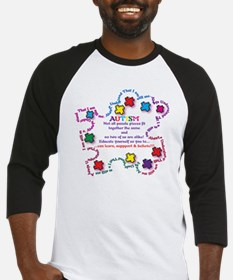 Puzzle Pieces No Two Alike Baseball Jersey