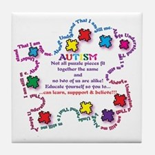Puzzle Pieces No Two Alike Tile Coaster