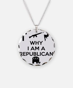 Why I am a Republican Necklace