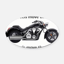 Biker Quote Oval Car Magnet