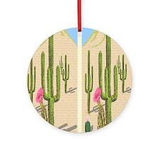desert cactus flip flops Round Ornament