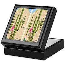 desert cactus flip flops Keepsake Box