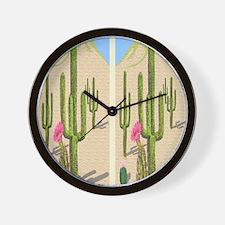 desert cactus flip flops Wall Clock