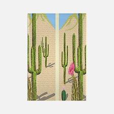 desert cactus flip flops Rectangle Magnet