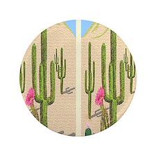 "desert cactus flip flops 3.5"" Button"