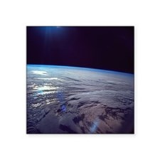 "The earth viewed from space Square Sticker 3"" x 3"""