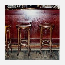 Bar Stools in Pub Tile Coaster