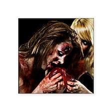 """Crazy Zombie Girls Square Sticker 3"""" x 3"""""""