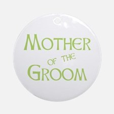 Sherbet Mother of the Groom Ornament (Round)